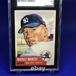 1953 Topps #82 Mickey Mantle New York Yankees SGC 3 40 VG HOF SHORT PRINT