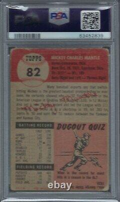 1953 Topps #82 Mickey Mantle PSA 1