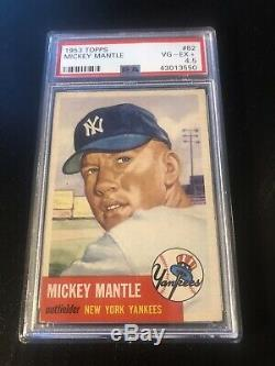 1953 Topps #82 Mickey Mantle PSA 4.5 Centered Nicely Clean Card