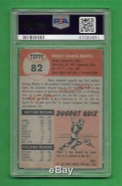 1953 Topps #82 Mickey Mantle PSA Good 2 New York Yankees old baseball card