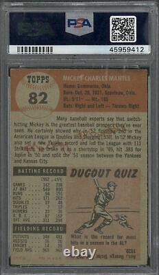 1953 Topps #82 Mickey Mantle PSA PR 1