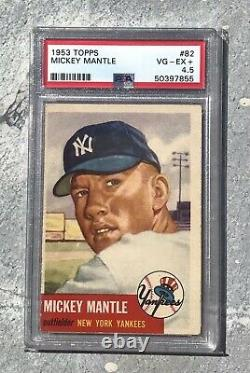 1953 Topps #82 Mickey Mantle PSA VG-EX+ 4.5 Perfect 4.5