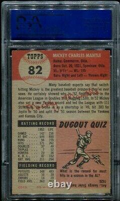 1953 Topps #82 Mickey Mantle Psa 5 (6463) 2nd Topps Card