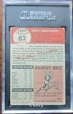 1953 Topps #82 Mickey Mantle SGC 1. Looks better than a 1
