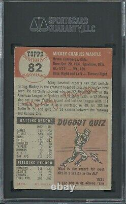 1953 Topps #82 Mickey Mantle SGC 3 Well Centered
