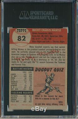 1953 Topps #82 Mickey Mantle Sgc 3 Vg (svsc) Short Print