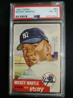 1953 Topps #82 Mickey Mantle Yankees PSA 4 TOP SHELF BEAUTIFUL 4