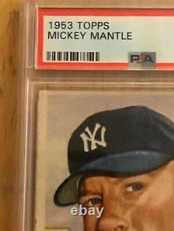 1953 Topps #82 Mickey Mantle Yankees PSA 5 EX