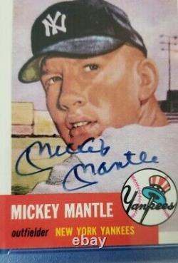 1953 Topps Archives Mickey Mantle Signed Auto Graded 8 NM-MT PSA DNA Certified