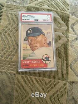 1953 Topps Baseball #82 Mickey Mantle PSA 1.5 graded card Yankees