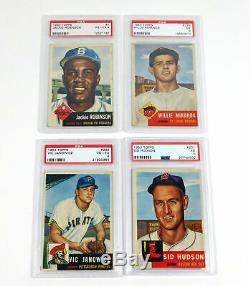 1953 Topps Complete Deans Baseball Set 274 Mantle PSA 4 Mays 6 OC Robinson PSA 4