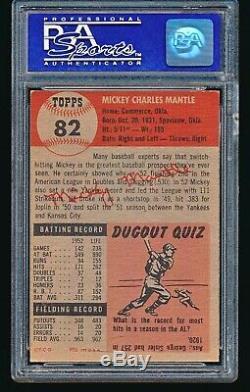 1953 Topps MICKEY MANTLE #82 PSA 7