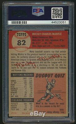 1953 Topps MICKEY MANTLE New York Yankees PSA 6