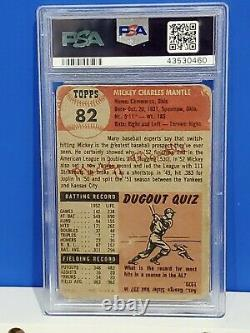 1953 Topps Mickey Mantle #82 PSA 1 Good Eye Appeal