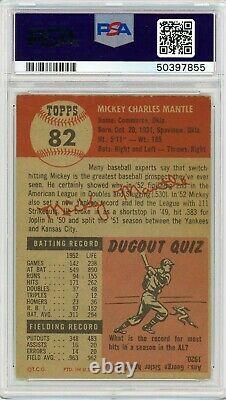 1953 Topps Mickey Mantle #82 PSA 4.5 P893