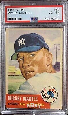 1953 Topps Mickey Mantle #82 PSA 4 Centered Looks Better