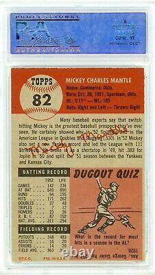 1953 Topps Mickey Mantle #82 PSA 6 P893