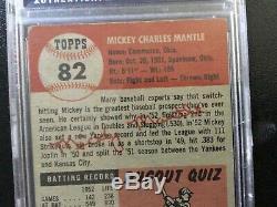 1953 Topps Mickey Mantle #82 PSA Good + 2.5, good centering, sharp corners