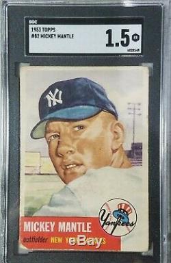1953 Topps Mickey Mantle #82 SGC 1.5 Fair