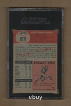 1953 Topps Mickey Mantle # 82 Sgc 50