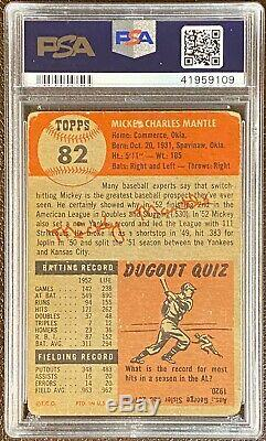 1953 Topps Mickey Mantle #82 Short Print PSA 1 Great Centering and Eye Appeal