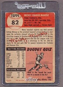 1953 Topps Mickey Mantle #82 Very Good REAL