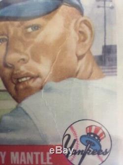 1953 Topps Mickey Mantle BVG 2.5 #82 Baseball Card Yankees 3rd Year Short Print