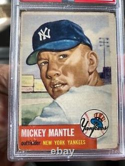 1953 Topps Mickey Mantle Card #82 PSA 2 Good