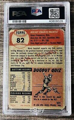 1953 Topps Mickey Mantle PSA 1 #82 New York Yankees Centered! Rare