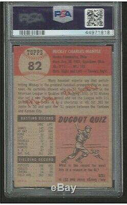 1953 Topps Mickey Mantle PSA 4.5