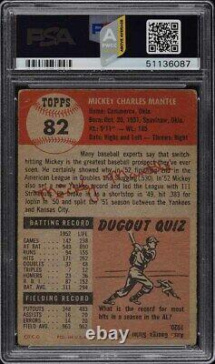 1953 Topps Mickey Mantle SHORT PRINT #82 PSA 1 PR (PWCC-A)