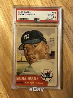 1953 Topps Mickey Mantle SHORT PRINT #82 PSA 2.5 GD+