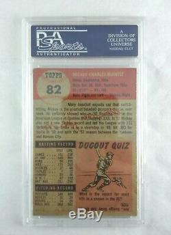 1953 Topps Mickey Mantle SHORT PRINT #82 PSA 4 VG-EX