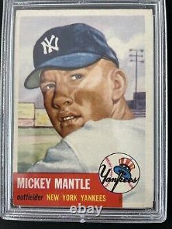 1953 Topps Mickey Mantle SHORT PRINT #82 PSA 6 EX-MT (PWCC)