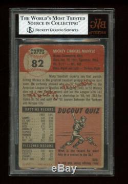 1953 Topps Set Break # 82 Mickey Mantle BVG 3 VERY GOOD