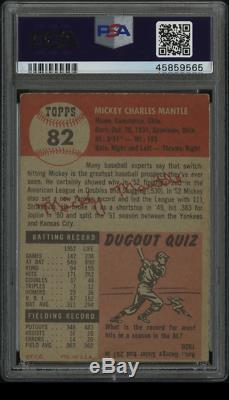1953 topps mickey mantle psa 3 MK