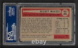 1954 Bowman Mickey Mantle #65 PSA 2 GOOD YANKEES HOF