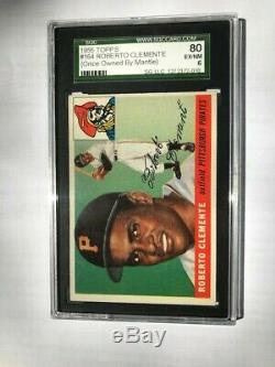 1955 Topps #164 Roberto Clemente RC SGC 6 (EX/NM) Once Owned by Mickey Mantle