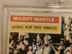 1956 MICKEY MANTLE PSA 4 VG- EX MC TOPPS #135 SIGNED AUTOGRAPH Grade 7 Rare