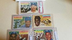 1956 MICKEY MANTLE (PSA GRADED) AND 4 FRIENDS Lot 31