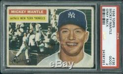 1956 Topps 135 GB Mickey Mantle PSA 2 (7351)