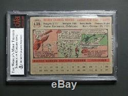1956 Topps #135 Mickey Mantle BVG 3.5 VG+ Yankees Centered Not PSA SGC Not 3 4