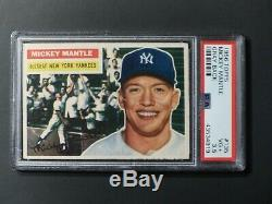 1956 Topps #135 Mickey Mantle PSA 3.5 VG+ Yankees Centered New PSA Label Not 3 4