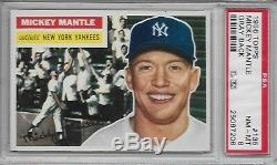 1956 Topps #135 Mickey Mantle PSA 8 Beautiful ('Dom T.')