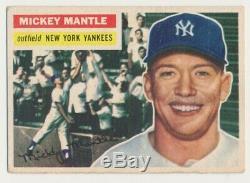 1956 Topps #135 Mickey Mantle VG New York Yankees Baseball Cards