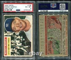 1956 Topps #135 Mickey Mantle Yankees HOF PSA 6 EX-MT sharp image