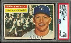 1956 Topps Baseball #135 Mickey Mantle PSA 2
