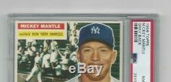 1956 Topps Baseball Mickey Mantle (#135) HOF -Gray Back- PSA 8 NM-MT