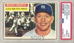1956 Topps Baseball Mickey Mantle Card #135 White Back Psa 2.5 (547 P17)