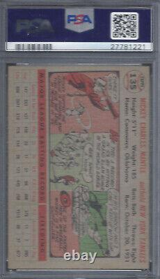 1956 Topps Baseball Mickey Mantle Gray Back #135 PSA 6 EX-MT High End